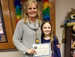 Addison Singleton with her 4th grade teacher Mrs. Lira
