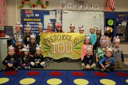 Horizon students celebrate 100th Day