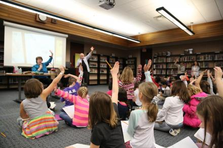 Ruth McNally Barshaw shares writing & illustration tips with PHM elementary students