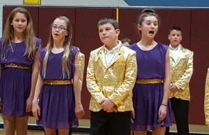Horizon's Show Choir was a big hit at the May 9 School Board Meeting.