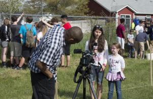 Horizon students are in the news; local media covered the tree planting on May 12.