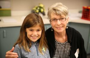 Horizon student and guest enjoy Grandparents/Special Friend day