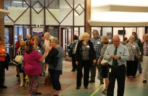 Visitors arrive for Grandparents/Special Friend day at Horizon